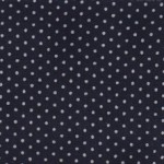 NAVY BLUE SPOTTED COTTON