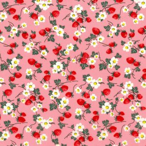 Everything But The Kitchen Sink - RJR Fabrics - BerriesandBlooms - Bubble Gum 2965-1