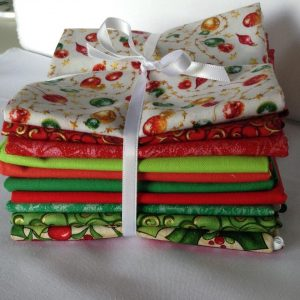 Xmas Bundle #2 - 10 Fat Quarter Prints Cotton