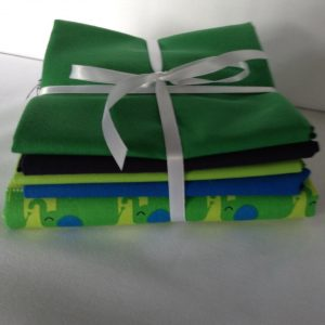 Green Elephant Bundle - 4 cotton fat quarters