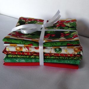 Xmas Bundle #1 - 6 Fat Quarter Prints Cotton