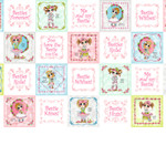 PRINTED COTTON - BESTIES FOREVER - BLOCKS - 23492-X