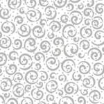 PRINTED COTTON - METALS RANGE - WHITE WITH SILVER SWIRLS
