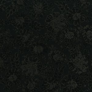 PRINTED COTTON - LUSTROUS LACE - RADIANT BLACK - PRECIOUS METALS RANGE - 3481