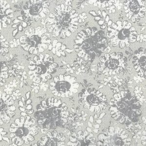 PRINTED COTTON - LUSTROUS LACE-PLATINUM - PRECIOUS METALS RANGE - 3482