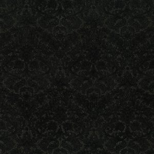 PRINTED COTTON - DAZZLING DAMASK-RADIANT BLACK - PRECIOUS METALS RANGE - 3512