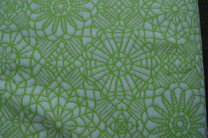 Quilting Treasures - Amazing Lace - white/green - 24632ZH