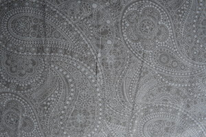 Wide Back - Cotton - Grey Paisley