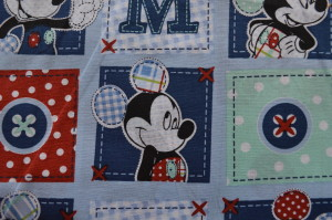 PRINTED COTTONS - MICKEY MOUSE DOTS PATCH BLUE