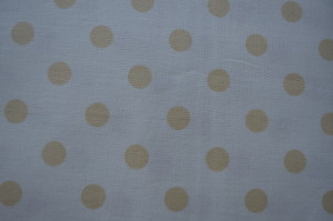 COTTON - ESSENTIALS - SPOTTED MUSTARD/CREAM