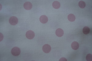 COTTON - ESSENTIALS - PINK SPOTTED/CREAM