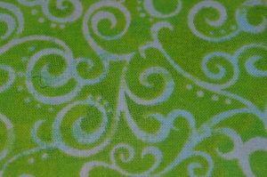 OMBRE SCROLL - WIDE FABRIC - GREEN