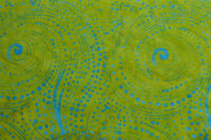 BATIK - GREEN/BLUE DOT-SWIRL - SS7