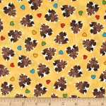 COTTON - A BEARY FUN DAY BY QUILTING TREASURES - HEARTS