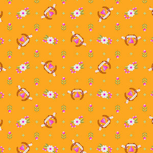 TULA PINK - SLOW AND STEADY - PWTP089 - ORANGE CRUSH