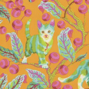 Tula Pink Tabby Road - Disco Kitty - Marmalade - PWTP092