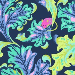 Tula Pink  Tabby Road - Eek - Blue Bird - PWTP093