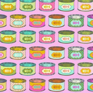 Tula Pink Tabby Road - Cat Snacks - Marmalade - PWTP094